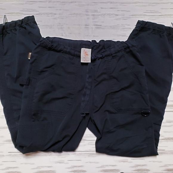 Black Koi scrub pants